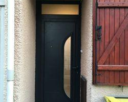 Lumières & Transparence - Montigny-le-Bretonneux - Porte d'entrée Aluminium
